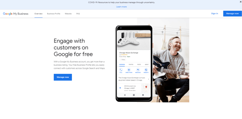 Google My Business Page Sign Up